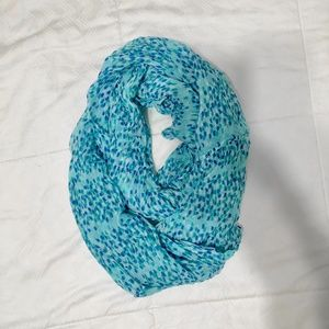 Speckled Blue Infinity Scarf!